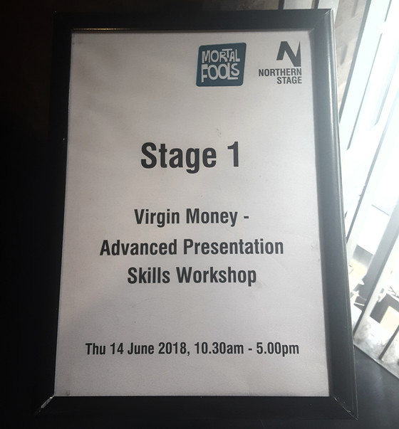 Skills Workshops with Mortal Fools for Virgin Money