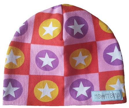 Mössa Stl.36/38 - Färgglada stjärnor -