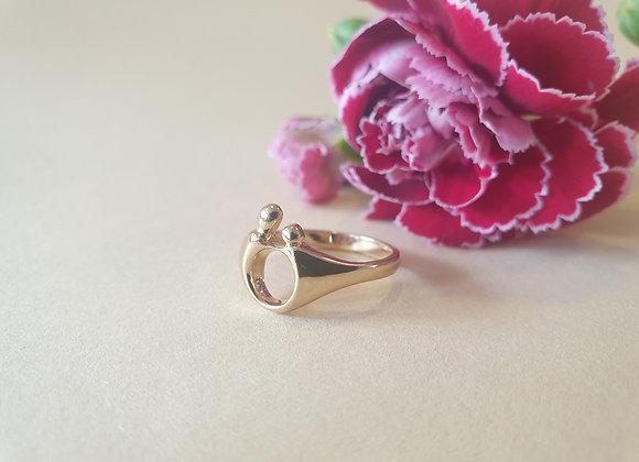 14krt geelgouden M'amour ring