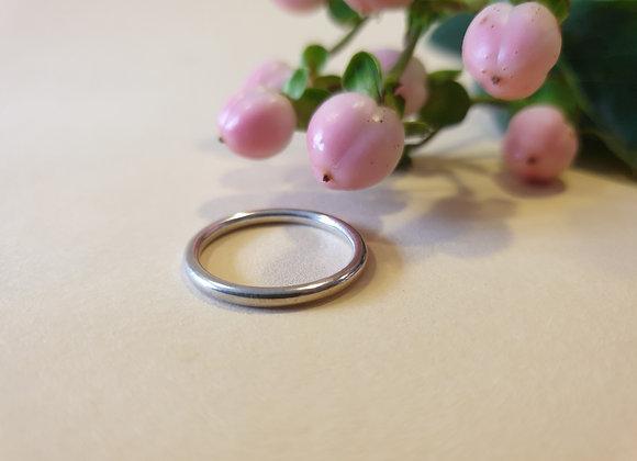14krt witgouden BRON ring