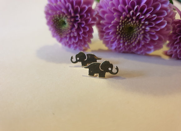 14krt gouden oorknoppen olifant