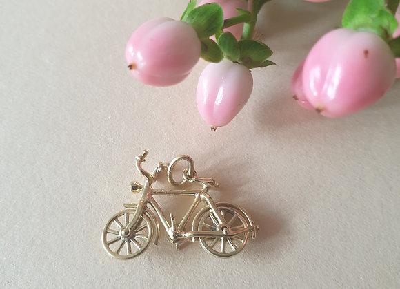 14krt geelgouden hanger fiets