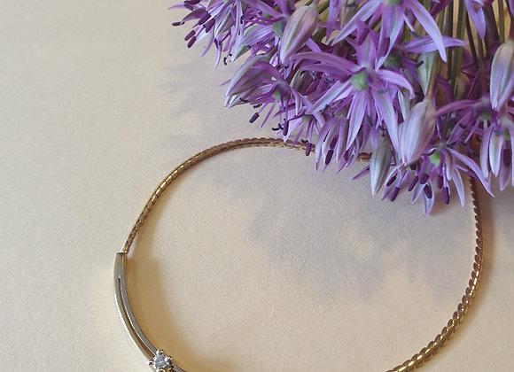 14kt bicolor gouden collier