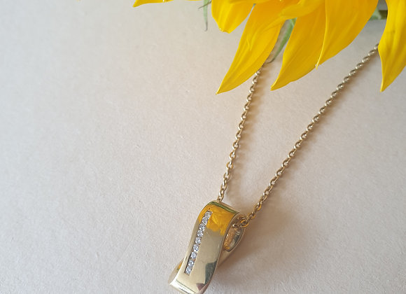 14krt geelgouden hanger met briljant