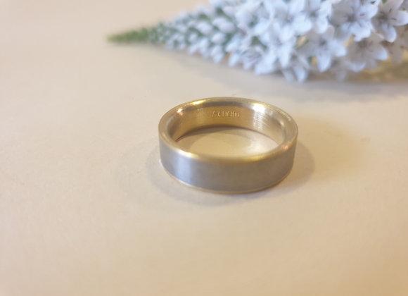 titanium/goud ring