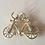 Thumbnail: 14krt geelgouden hanger fiets