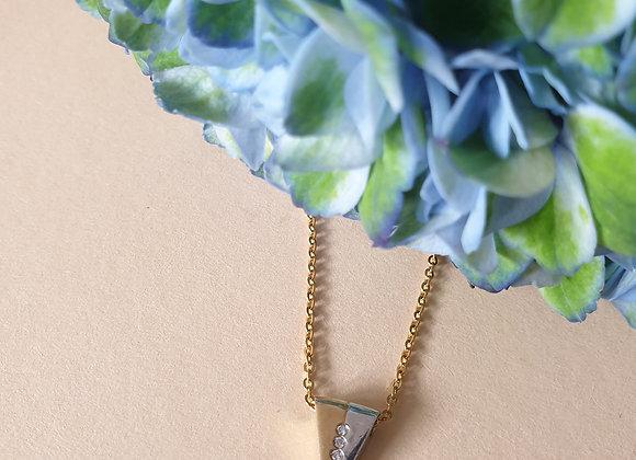 14krt bicolor gouden hanger