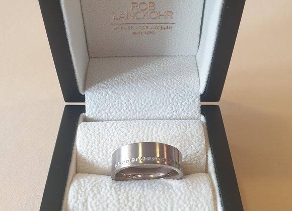 18krt witgouden ring met briljant