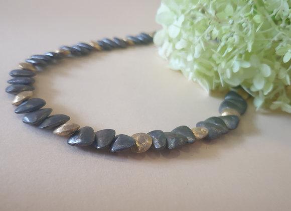 Bicolor zilveren collier