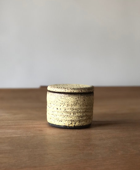Yellow Textured Jar - Small
