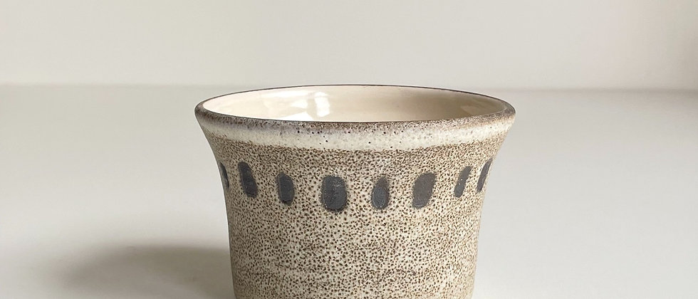 Bowl Small Sand With Dots