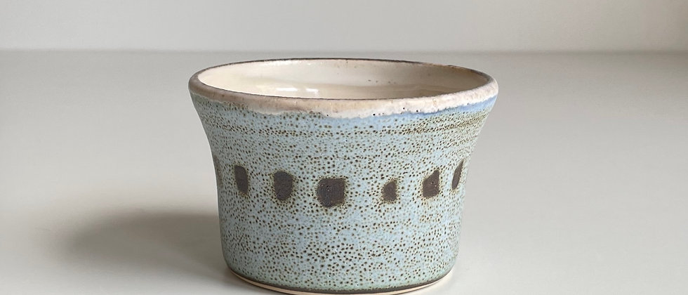 Bowl Small Blue With Dots