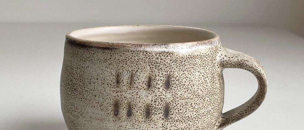 Mug Round, Sand With Dots -250ml