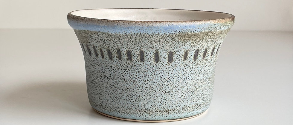 Bowl Large Blue With Dots