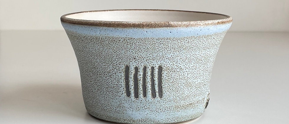 Bowl Large Blue With Lines