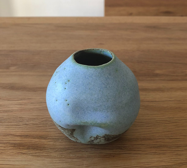 Small blue vessel