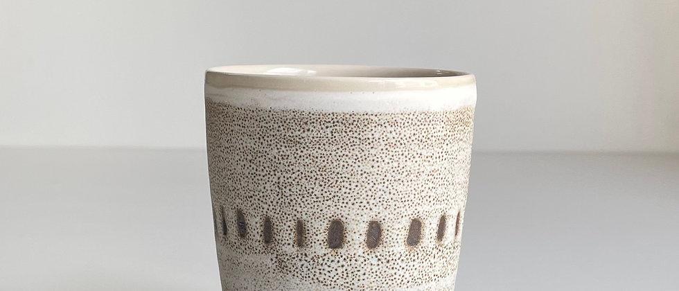 Beaker White With Dots- 260ml