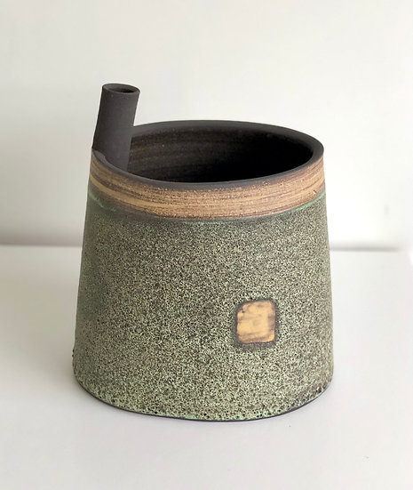 Ceramic Vessel - Story Beneath Series Pale Green