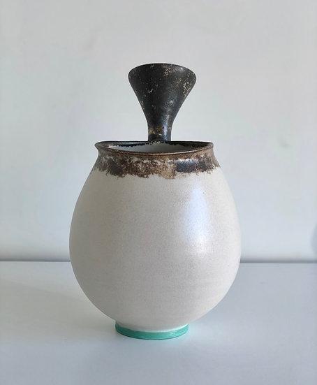 Ceramic Handled Vessel-White