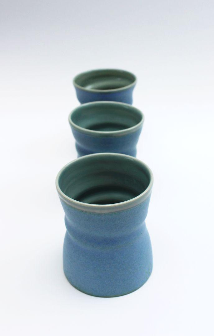 blue beakers
