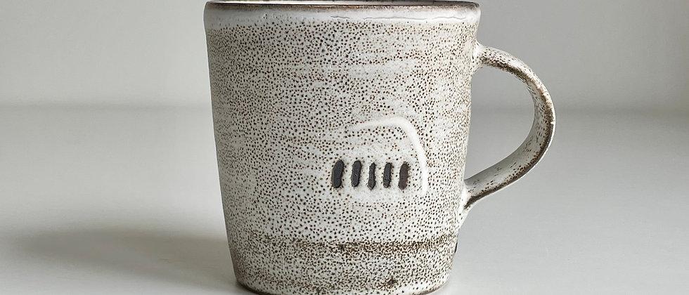 Mug White Dots- Big 350ml