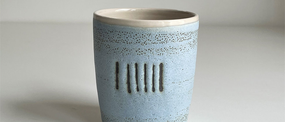 Beaker Blue With Lines - 260ml