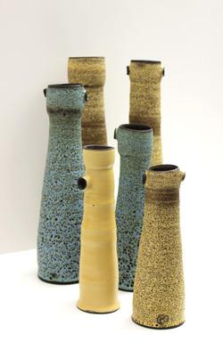 Solines Series, Black Clay, Bubbly Glaze, 2015