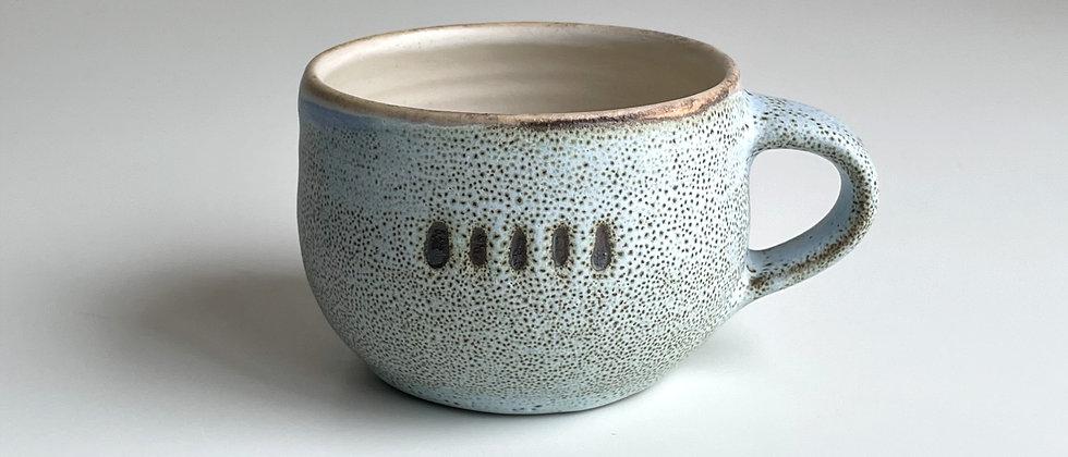 Mug Round, Blue With Dots -250ml