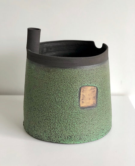 "Ceramic Vessel ""Story Beneath"" series - Green"