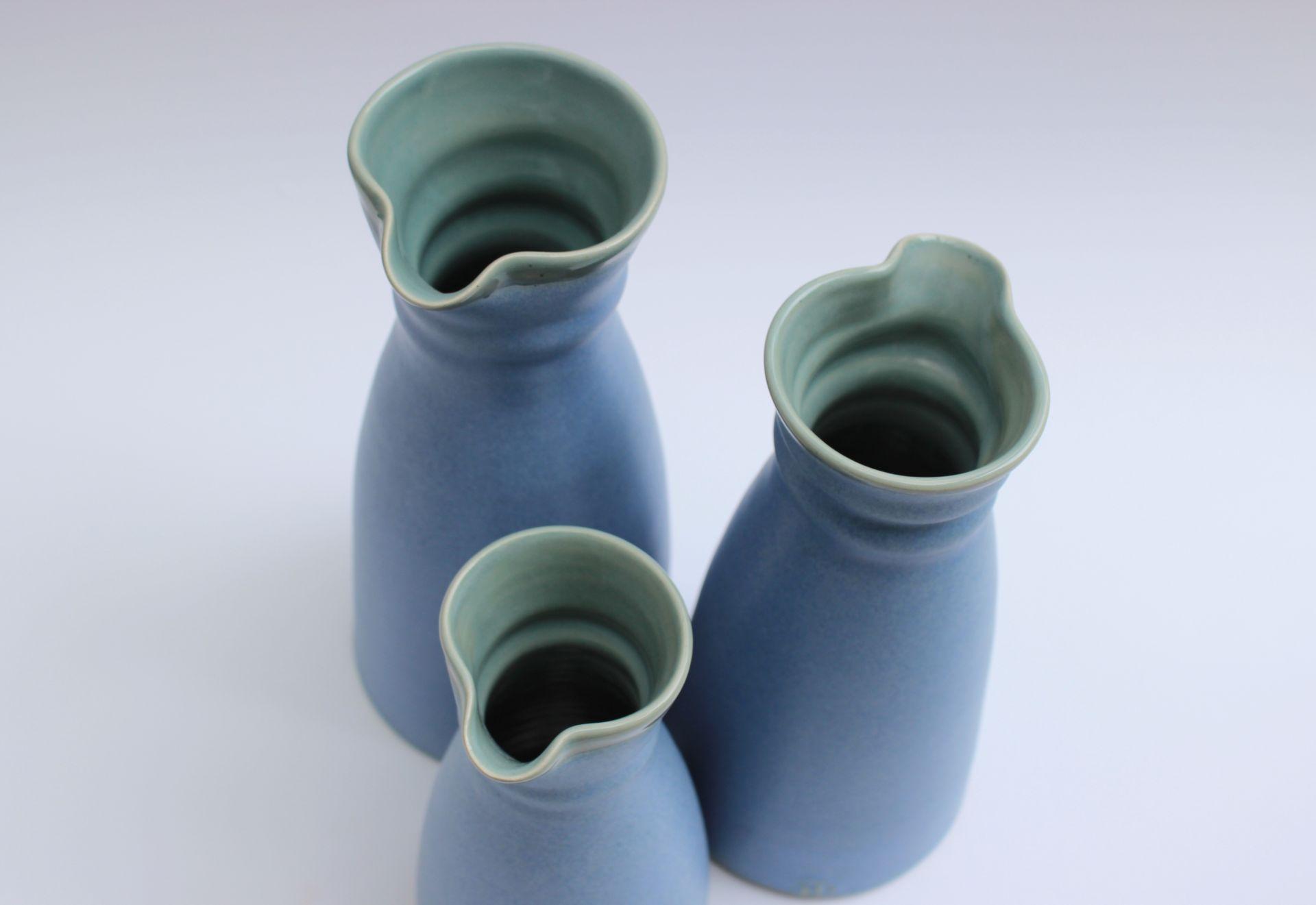 blue carafes