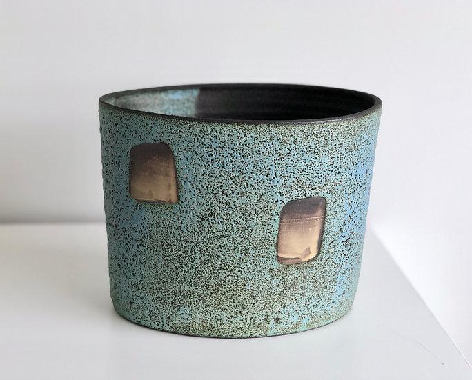 "Ceramic Vessel ""Story Beneath"" series - Blue"