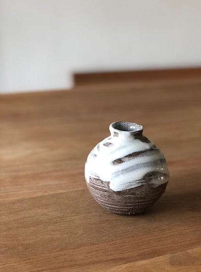 Bud Vase Crackled Glaze