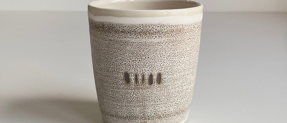 Beaker Sand With Dots- 260ml