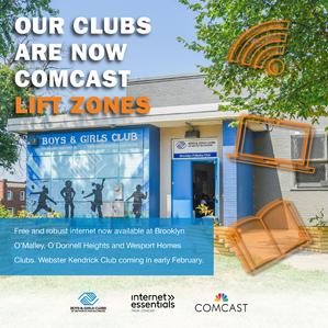 Comcast Providing Free Internet at Boys & Girls Clubs of Metropolitan Baltimore Locations