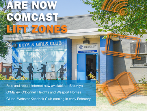 Comcast Providing Free Internet at Boys & Girls Clubs of Metropolitan Baltimore Locations