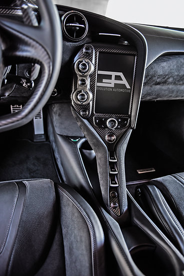 Carbon Fiber Infotainment Surround with left and right window switches