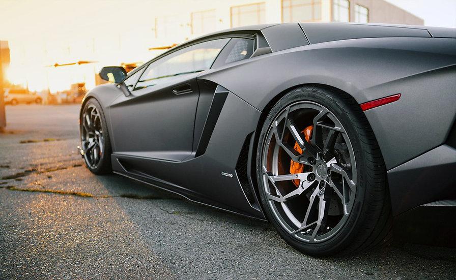 Pur custom forged wheels for Lamborghini