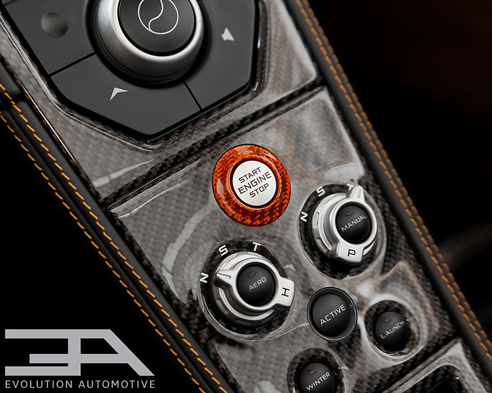 Carbon Starter Button Ring in Red or Orange