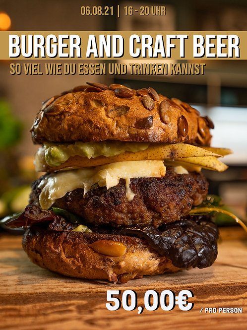 Burger and Craft Beer | 16 - 20 Uhr