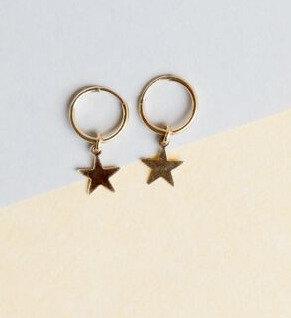 Dallas Star mini hoops