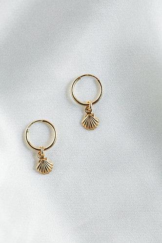 Beth Seashell Hoop Earrings