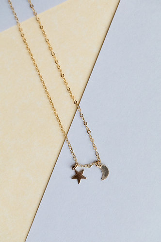 Aly Basic Moon & Star Choker