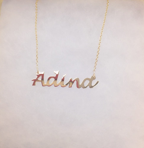 Adina Name Plate Necklace
