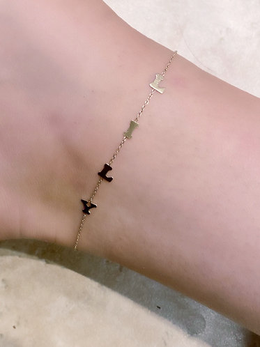 Lily Name Plate Anklet