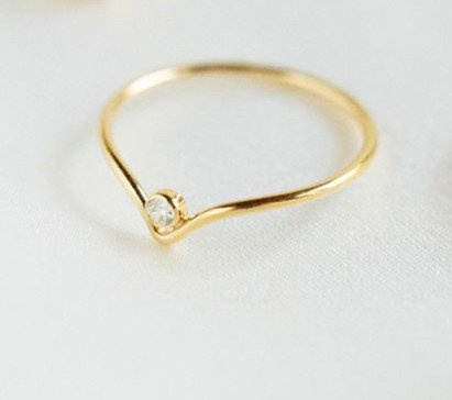 Billie Gold-filled Ring w/ Swarovski Crystal