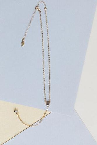 Felicia Y-Style Double Crystal Necklace