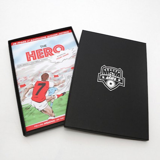 outlet store f5dfc 7e346 Arsenal Personalised Football Comic - Store - SoccerStar