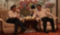 Sjaak van der Tak en Chen Fei in Dezhou.