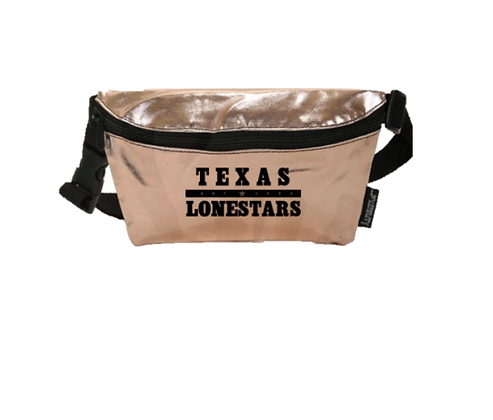 Texas Lonestars Metallic Fanny Pack