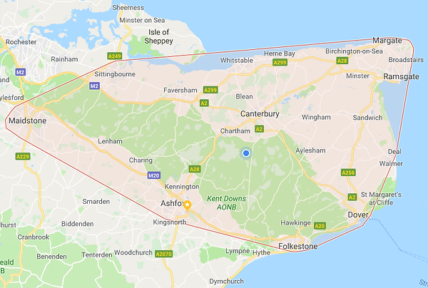 Canterbury Carpet Cleaning location map